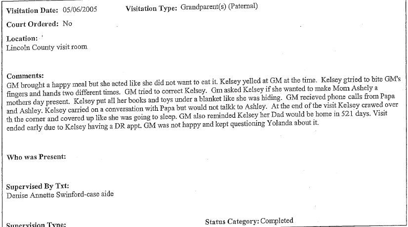 occy on may 9 2005 the osbj received a complaint alleging a grandfather was not given information by the dhs regarding his guardianship status